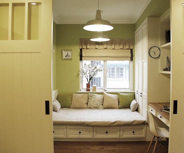 挑高木顶的美式清新小屋