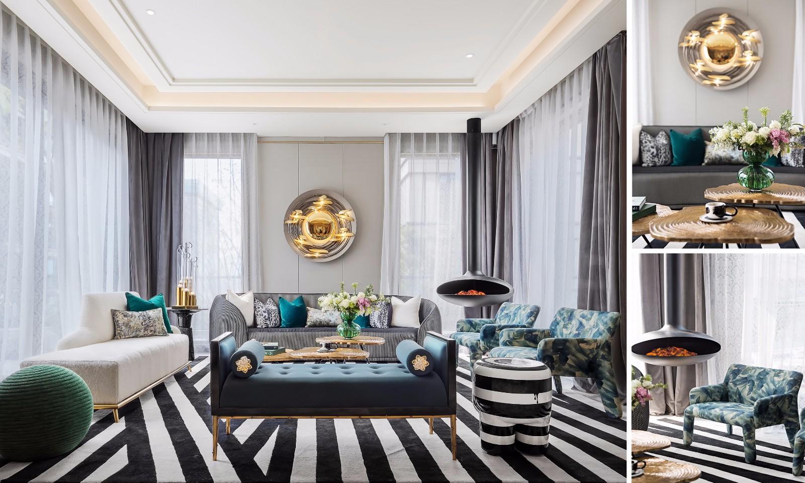 现代法式别墅,金粉饰家,散发万种风情